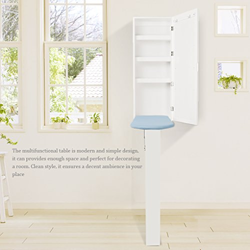 Topfire in Wall Ironing Board Cabinet Storage Shelves to Iron Accessories Dressing Mirror Storage Cabinet Hotel/Home/Office use by Topfire (Image #8)