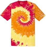 Joe's USA Koloa Surf Co.(tm) Colorful Tie-Dye T-Shirt,3XL-Blaze Rainbow