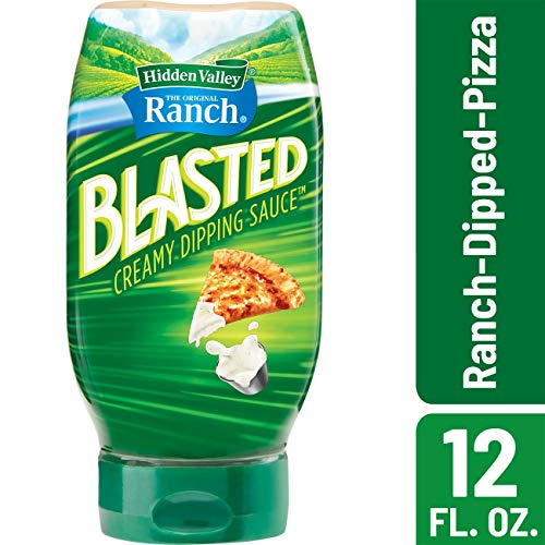 Hidden Valley Ranch Blasted Creamy Dipping Sauce, Ranch-Dipped-Pizza, Gluten Free - 12 Ounce Bottle