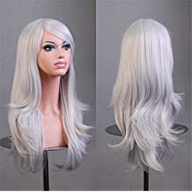 """Cool2day®28""""70cm Long Wavy Universal Silver White Cosplay Wigs Party Hair for Woman"""