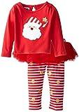 Mud Pie Baby-Girls Newborn Santa Skirt Set, Red, 12-18 Months