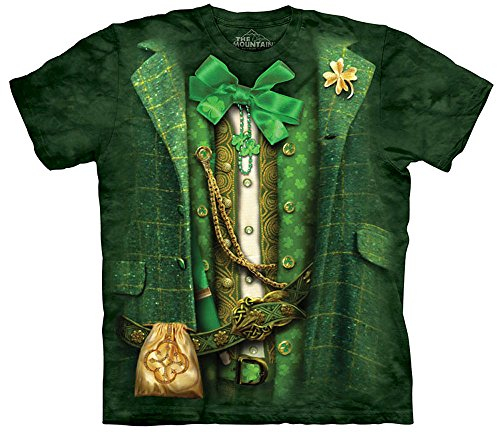 St Patricks Day Suit (St. Patrick's Day Lucky Leprechaun Suit T-shirt, 2X)