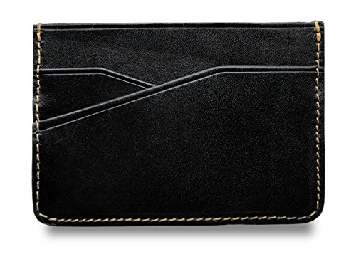 Front Pocket Wallet - Leather Slim Card Case Mini Card Wallet -