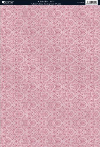 Chantilly Collection (Kanban Crafts The Mitford Collection Hvy-Weight Background Card Sheet: Chantilly Rose)