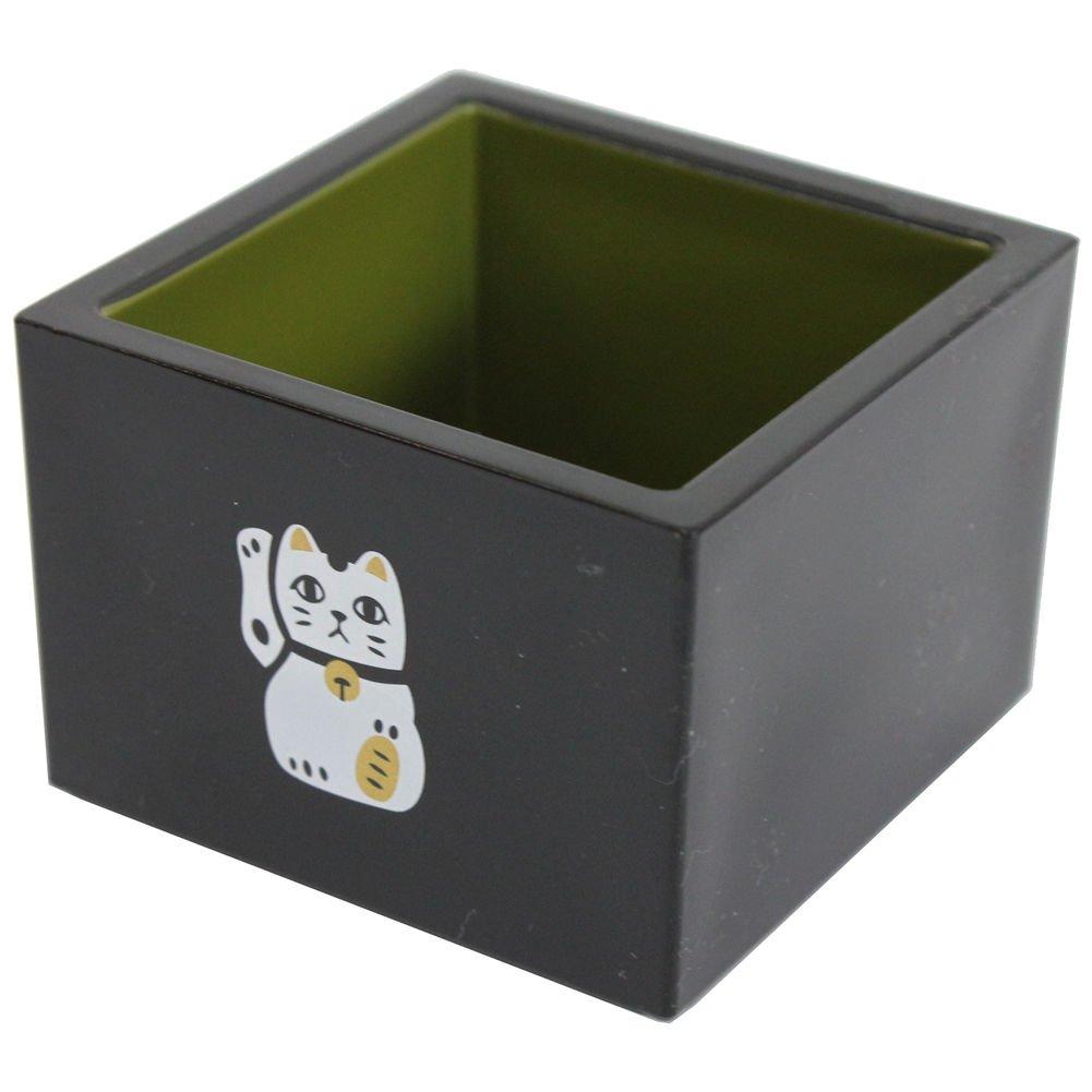 Kaya Japanese Masu Sake Cup Manekineko (Beckoning Cat) Design