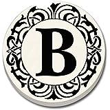 "Monogram ""B"" Car Coaster - Single Auto Coaster By CounterArt"