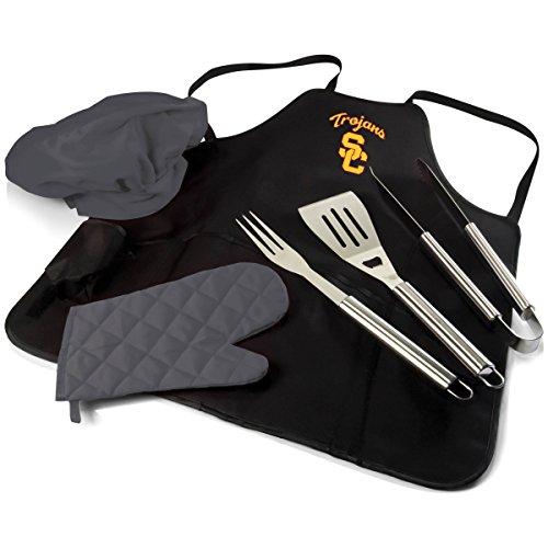 Picnic Time USC BBQ Apron Tote Pro, Black/Miscellaneous
