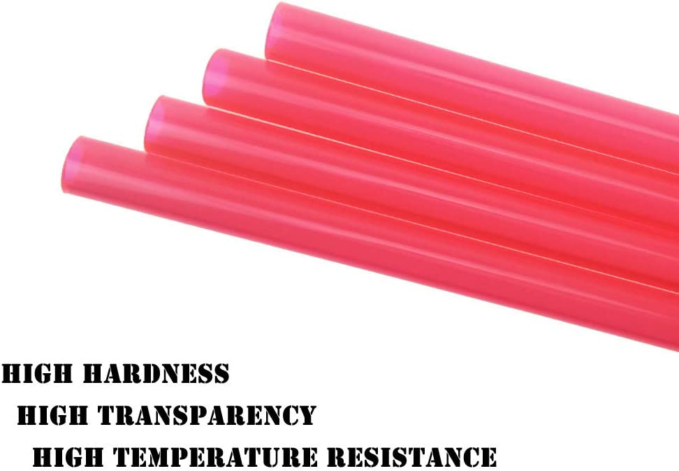 YILE 4PCs 500mm Length 10mm Diameter PETG PC Water Cooling Tube Rigid Acrylic Water Cooling Tube Water-Cooled Petg Hard Tube Computer Cooling Tube for Computer Water Cooling System Red