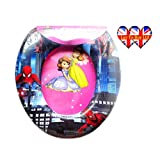 Child's Soft Cushioned Toilet seat (With cartoon characters) (Training Seat) (portable potty) (Spider Man)