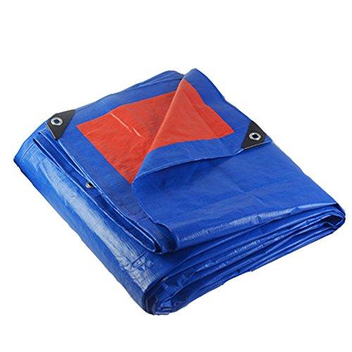後方戻すクラッシュCHAOXIANG オーニング 防雨 不凍液 耐高温性 耐摩耗性 耐食性 老化防止 厚い 軽量 PE 青、 180g/m 2、 厚さ 0.35mm、 22サイズ (色 : 青, サイズ さいず : 3x3m)