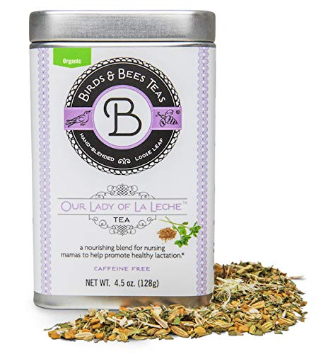 Birds & Bees Teas - Organic Lactation Tea - Our Lady of La Leche Breastfeeding Supplement & Lactation Supplement to Boost Supply of Mother's Milk with Organic Herbs, 30 Servings, 4.5 oz