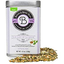 Organic Lactation Tea for Breastfeeding - Our Lady of La Leche by Birds & Bees Teas - Breastfeeding Supplement & Lactation Supplement to Boost Supply of Mother's Milk with Organic Herbs (~30 Servings)