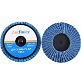 LotFancy Roloc Flap Disc, 3 Inch 40 60 80 120 Grit Roll Lock Sanding Disc, Pack of 20, High Density Zirconia Alumina