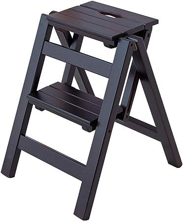 Escalera Plegable de 2 escalones, Escalera para Uso doméstico, Silla de Comedor Taburete Escaleras de Tijera de Madera Liviana para niños y Adultos, Herramienta de jardinería para el hogar Máx. 150kg: Amazon.es: