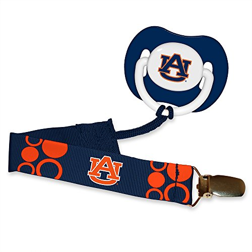 Baby Fanatic Pacifier with Clip - Auburn University