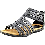 Earth Bay Gladiator Sandal - Black Multi Soft Leather - Womens - 8.5