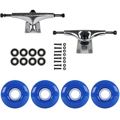 スケートボードパッケージHavocシルバー5.0 Trucks 51 mm TrueブルーABEC 7 Bearings [並行輸入品]   B078WVNTH1