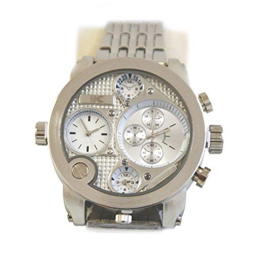 Yaki Marken Herrenuhren Modeuhren Herren Quarz Armbanduhr Männer Uhr mit Groß Zifferblatt Metall