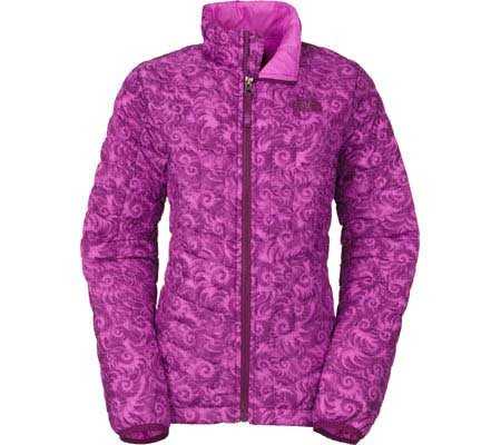 The North Face Girls Thermoball Full Zip Jacket (Medium, Sweet Violet Nautilus Print) by The North Face