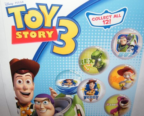 Disney Toy Story Figure Superball Toy Set of 12 Fun Rubber Bouncing Balls (Story Toy Ball)