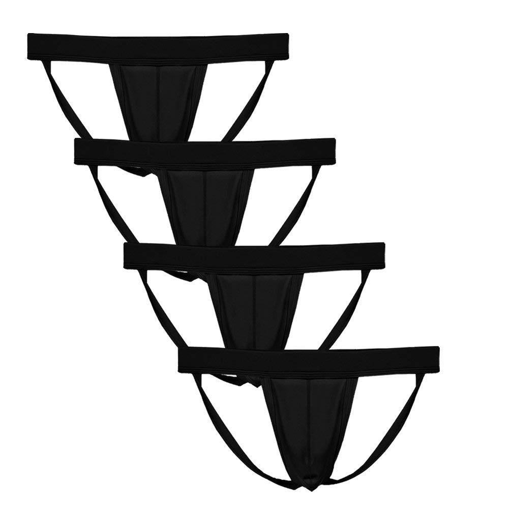 Yundobop Men's Athletic Supporter Performance Jockstrap Briefs Elastic Waistband Underwear