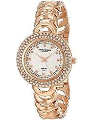 Akribos XXIV Amazon Exclusive Womens AK804RG Diamond-Accented Rose Gold-Tone Watch