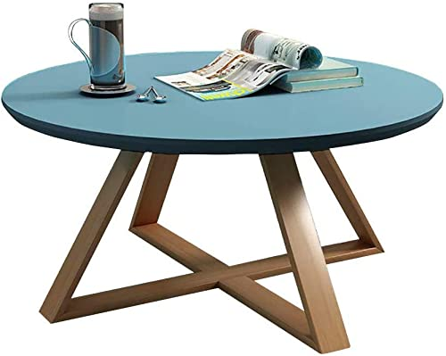Luxurious Wooden Coffee Tables High Gloss Round Side Table