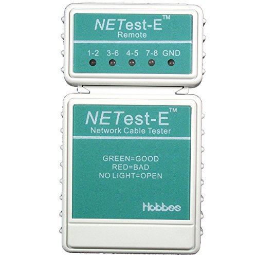Hobbes E-400 NETest-E Basic Cable Tester for Quick Testing of RJ45