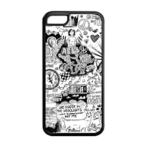 Hard Rubber Special Design iPhone 5c Cover All Time Low Case for iPhone 5c
