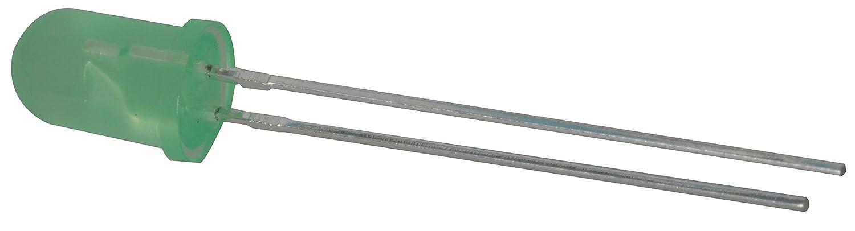 Pack of 50 2-Pin 8.6 mm H x 5.9 mm L x 5.9 mm W Uni-Color Green 565nm Jameco Valuepro LG13740 LED