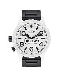 Nixon A172SW2243 Men's 51-30 SW Stormtrooper Lefty White Dial Black IP Steel Bracelet Dive Watch