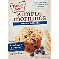 Duncan Hines Simple Mornings Muffin Mix, Blueberry Streusel, 20.5 Ounce