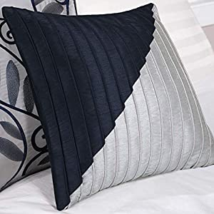Madison Park Amherst Faux Silk Comforter Set-Casual Contemporary Design All Season Down Alternative Bedding, Matching…