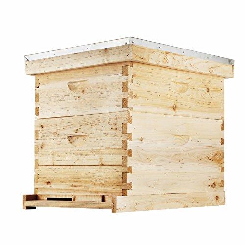 Popsport Beehive Frames 20x16x10 인치 벌집 나무 집 나무 벌꿀 벌집 벌집 집/Popsport Beehive Frames 20x16x10 Inch Beehive Wooden House Wood Honey Bee Hive House for Beekeeping