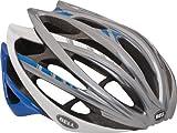 Bell Gage Stripes Bike Helmet (Silver/Blue, Small)