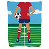 Girl's Soccer Player Baby Blanket | Baby Blanket by ChalkTalkSPORTS | Medium Skin Tone