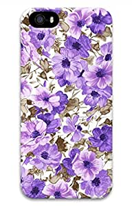 Purple Pattern Customized Popular DIY Hard Back Case Cover For iPhone 5S 3D