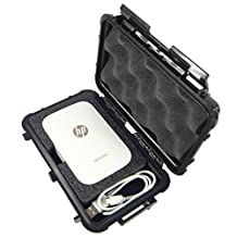 CASE Designed for HP Sprocket Portable Photo Printer - Crushproof Waterproof Protective Carrying Travel Case Bag With Specially Designed Compartment To Store Mini HP Sprocket Printer and Charger