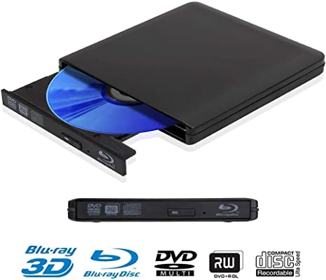 4K Blu Ray Reproductor Grabadora DVD Externo Portatil Grabadora de ...