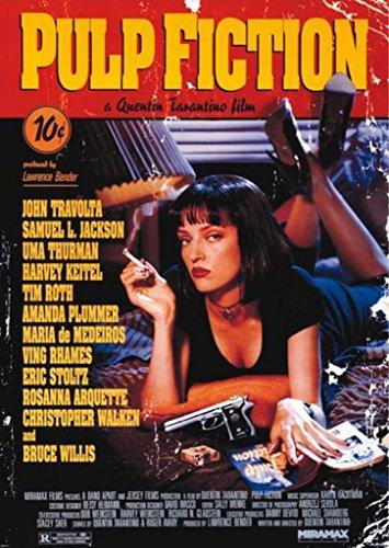 Pyramid America Pulp Fiction Uma Thurman Quentin Tarantino Comedy Crime Movie Travolta Jackson Giant Poster 39x55 inch