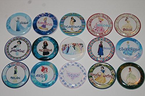 Disney Princess Theme Inspired Refrigerator Magnets - 15 Piece Set 2
