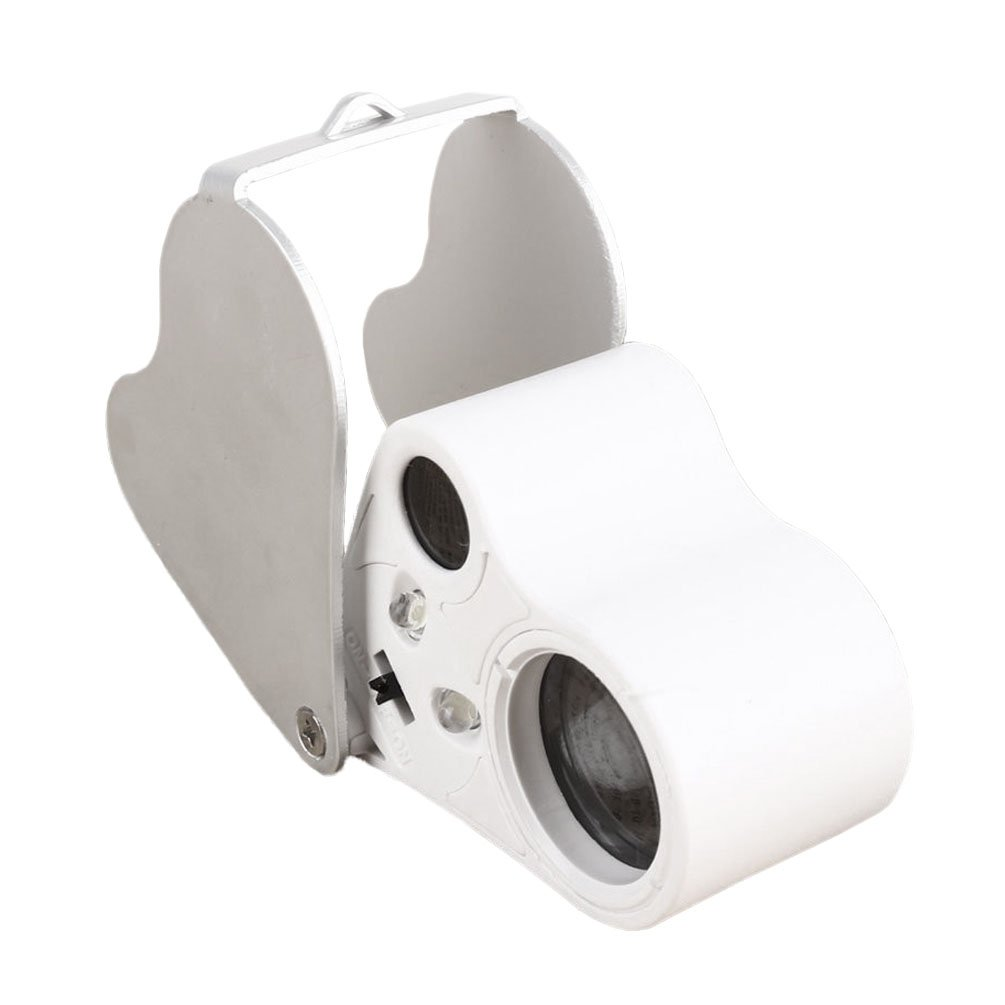 30/x 60/x illuminato gioielli Magnifier Teoyall gioiellieri occhio lente di ingrandimento con doppio LED luci per gemme gioielli Rocks francobolli monete orologi hobby antiquariato modelli e