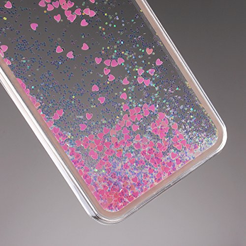 """Schutzhülle für iPhone 6, Nsstar® Hard Plastic Handyhülle Transparent Clear Cystal Case Glitter Flowing Bling Sterns und Sparkles Shinny Attraktiv Hart Hülle Etui Schale für iPhone 6 4.7"""" (Pink)"""