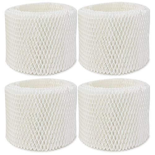 (Extolife 4 Pack Replacement Humidifier Filter for Vicks & Kaz WF2 Humidifier V3100, V3500, V3500N, V3600, V3700, V3800, V3850, V3850JUV, V3900, V3900JUV, VEV320, 3020, ECM-250i, ECM-500, WA-8D (4))