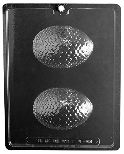 (CybrTrayd Life of the Party M255-3BUNDLE Dragon Egg Chocolate Candy Mold, Clear)