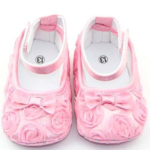 Cute Chaussures d'Enfant Style de Rose Comfortable Princess Floral de Rose 11cm