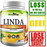 Linda - Best Weight Loss Pills - Linda for Women & Men - Herbal Diet Supplements - Natural Appetite Suppressant That Works Fast - Best Diet Pills +10 pcs