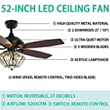Andersonlight Retro Arts Indoor Ceiling Fan, 5