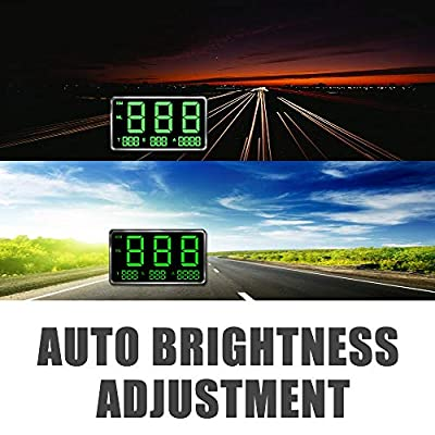 kingneed Original Universal GPS Head Up Display Speedometer Odometer Car Digital Speed Display MPH Over Speeding Alarm Car Clock for All Vehicles C60/C60S/C80/C90 (C80-1): Automotive