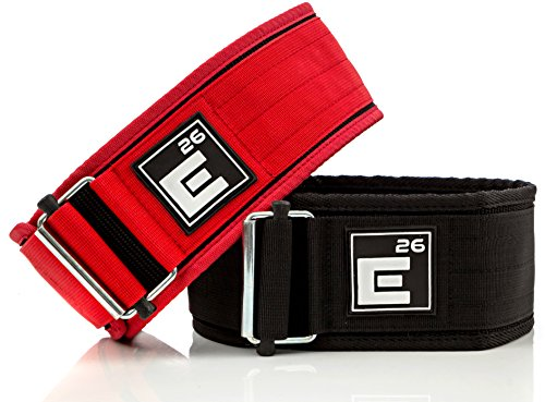 Element 26 Self-Locking Weight Lifting Belt | Premium Weightlifting Belt for Serious Crossfit, Power Lifting, and Olympic Lifting Athletes (34 - 37, Around Navel, Large, Black)